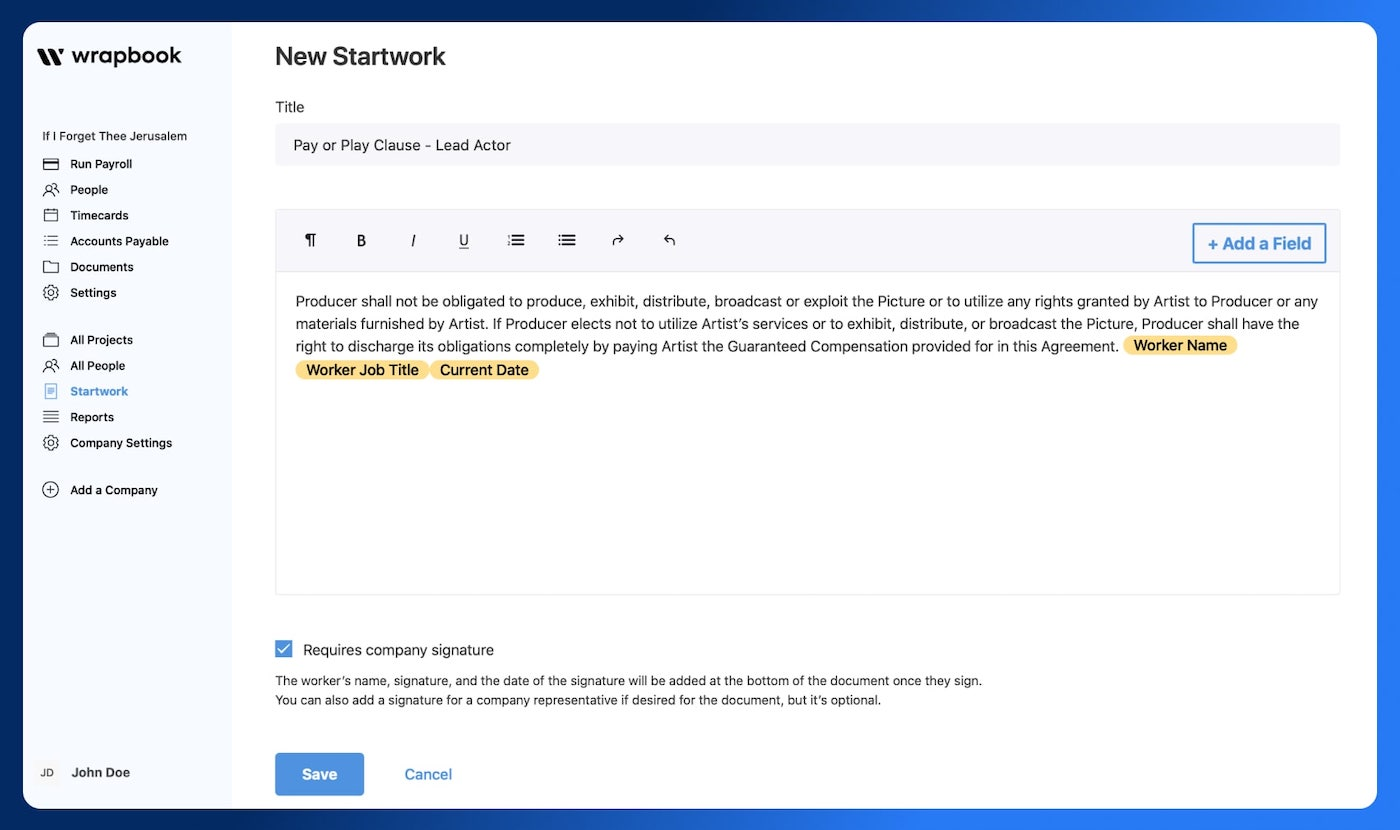 Pay or Play Clause - Pay or Play Contract Template - Starwork - Wrabook