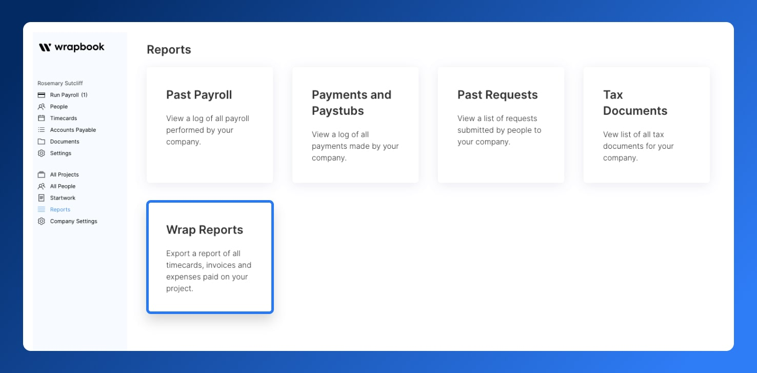 Wrap Reports - Add Accounting Codes - Wrapbook