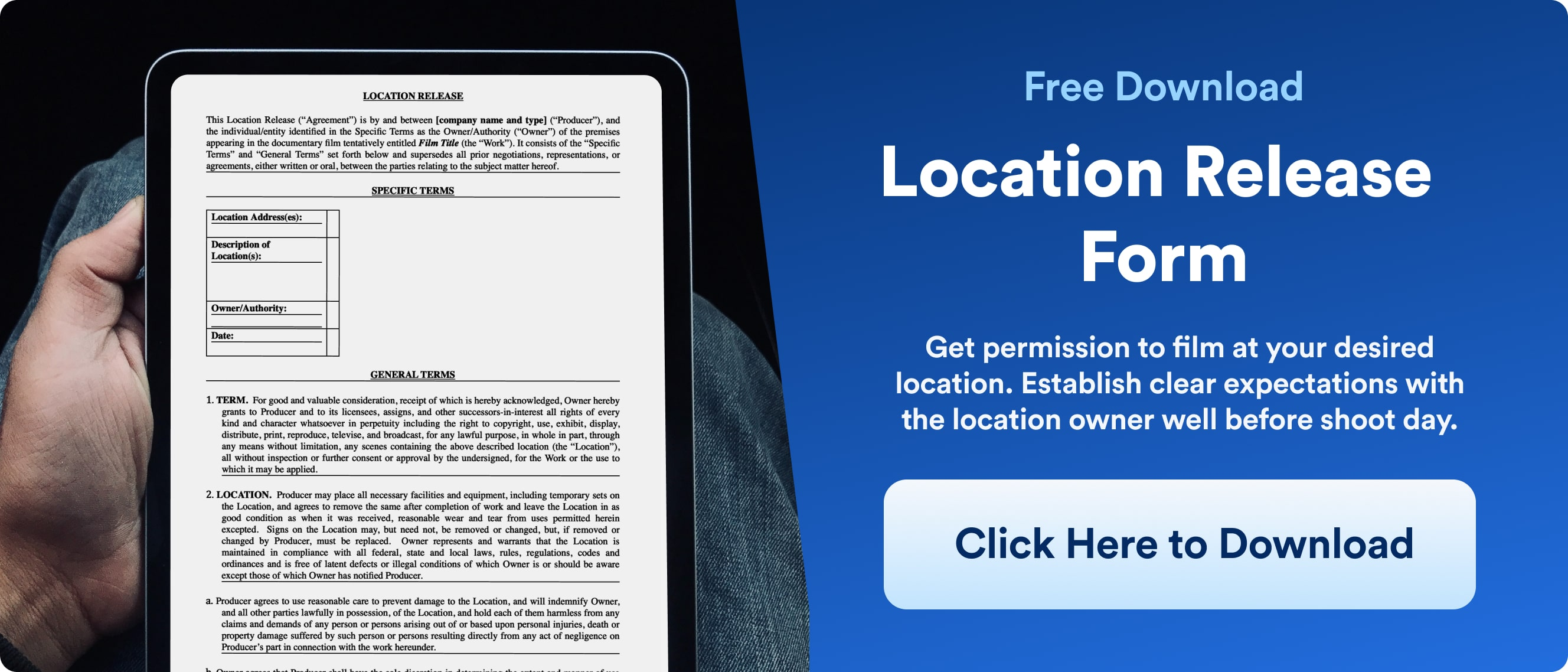 Location Release Form - Template Download - Wrapbook