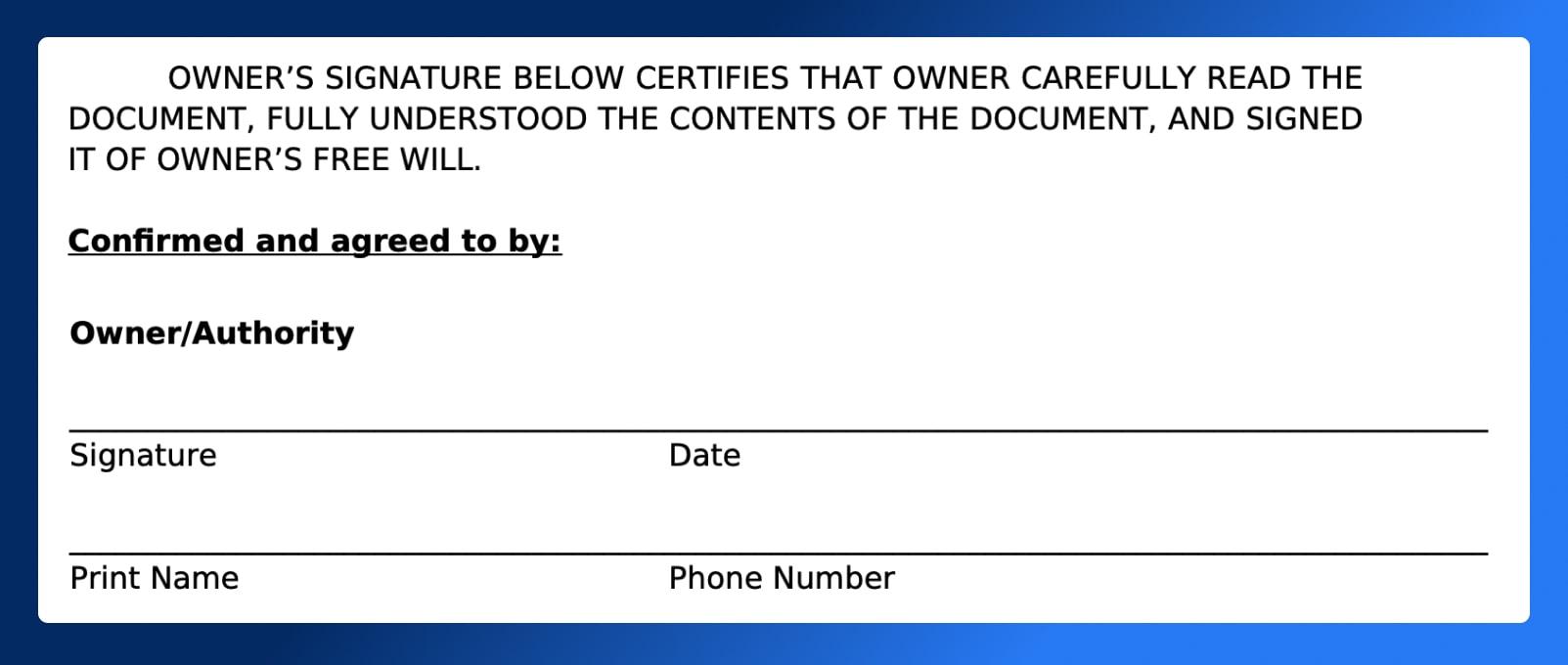 Location Release Form - Signatures - Wrapbook