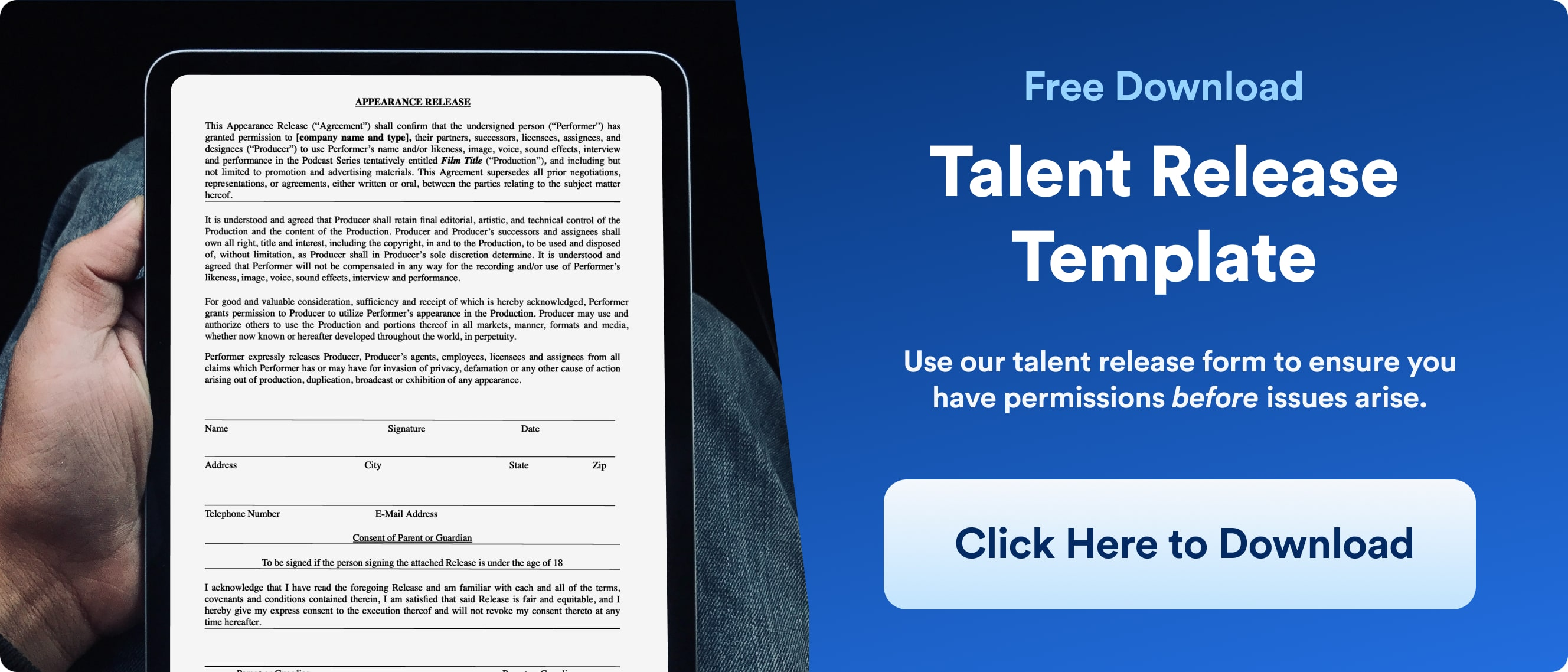 Model Release Forms - Talent Release Download - Wrapbook