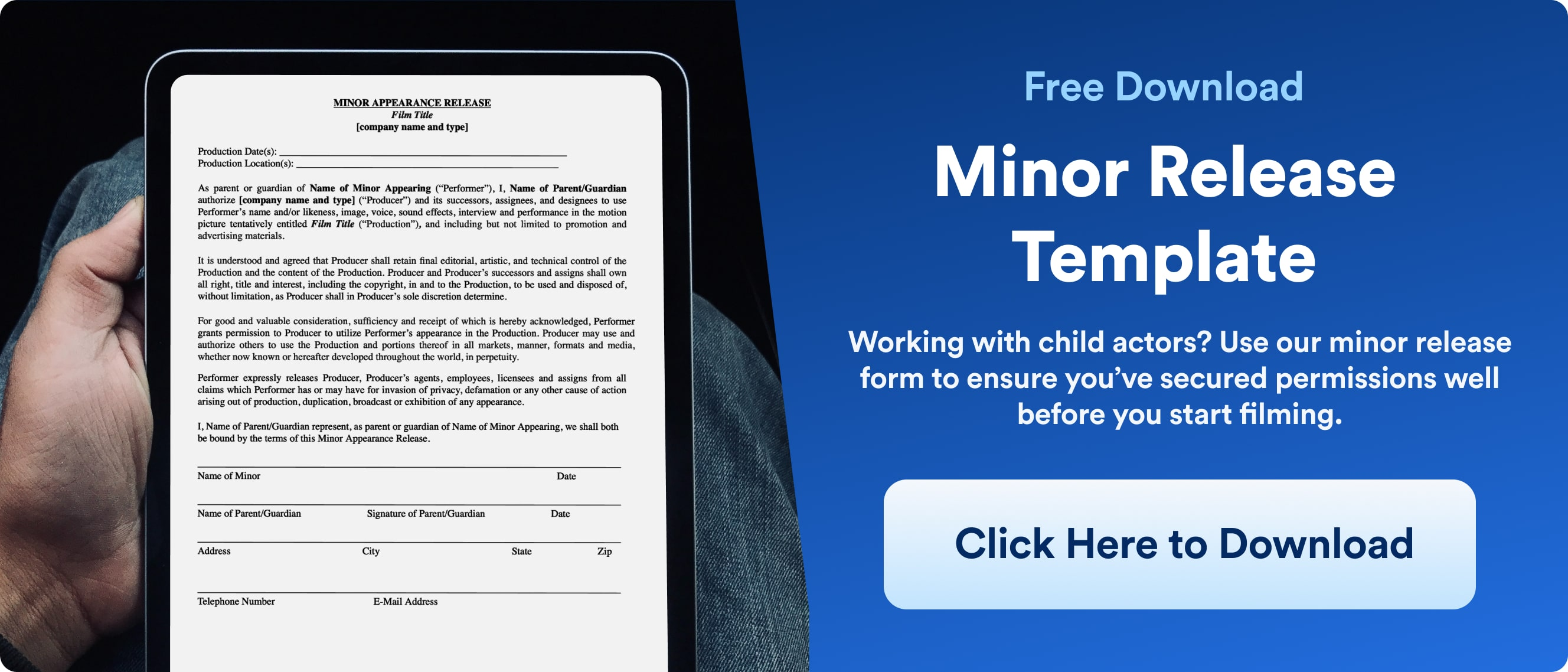 Child Actor Laws - Minor Release From Download - Wrapbook