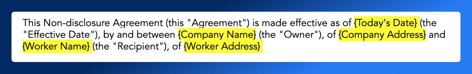 Non Disclosure Agreement - Companies Involved - Wrapbook