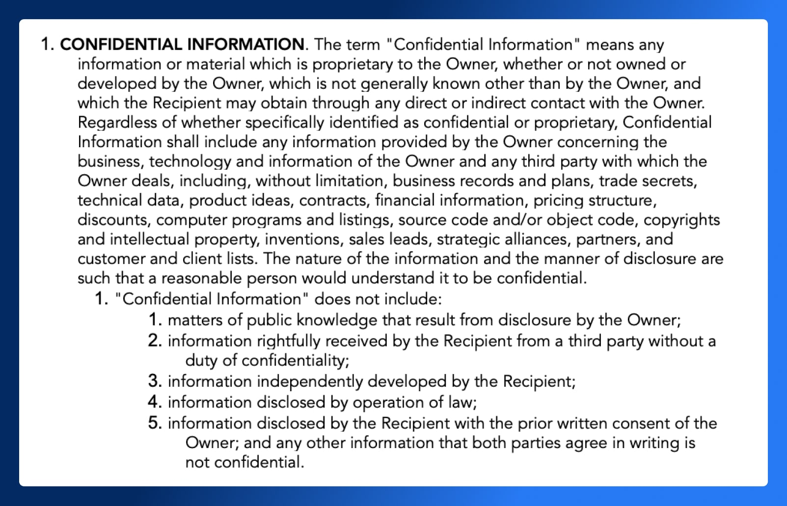 Non Disclosure Agreement - Confidential Information - Wrapbook