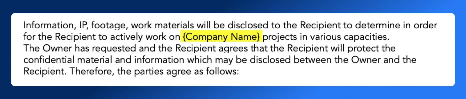 Non Disclosure Agreement - Scope - Wrapbook