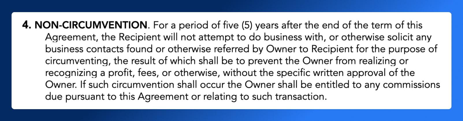 Non Disclosure Agreement - Non-circumvention - Wrapbook