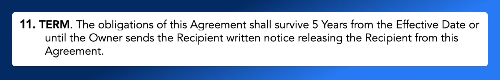 Non Disclosure Agreement - Term Length - Wrapbook