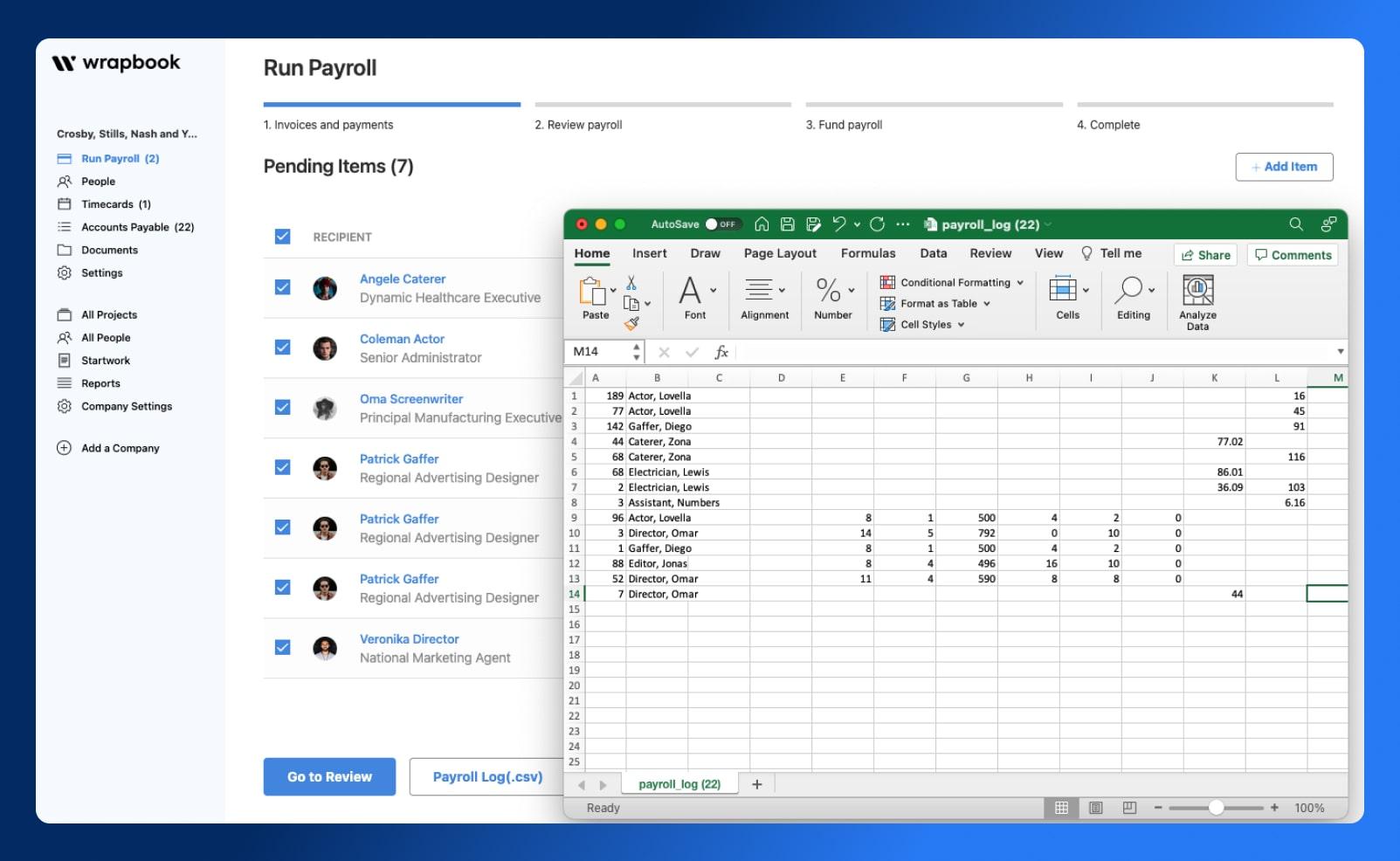 Actualize Budgets - CSV View - Wrapbook