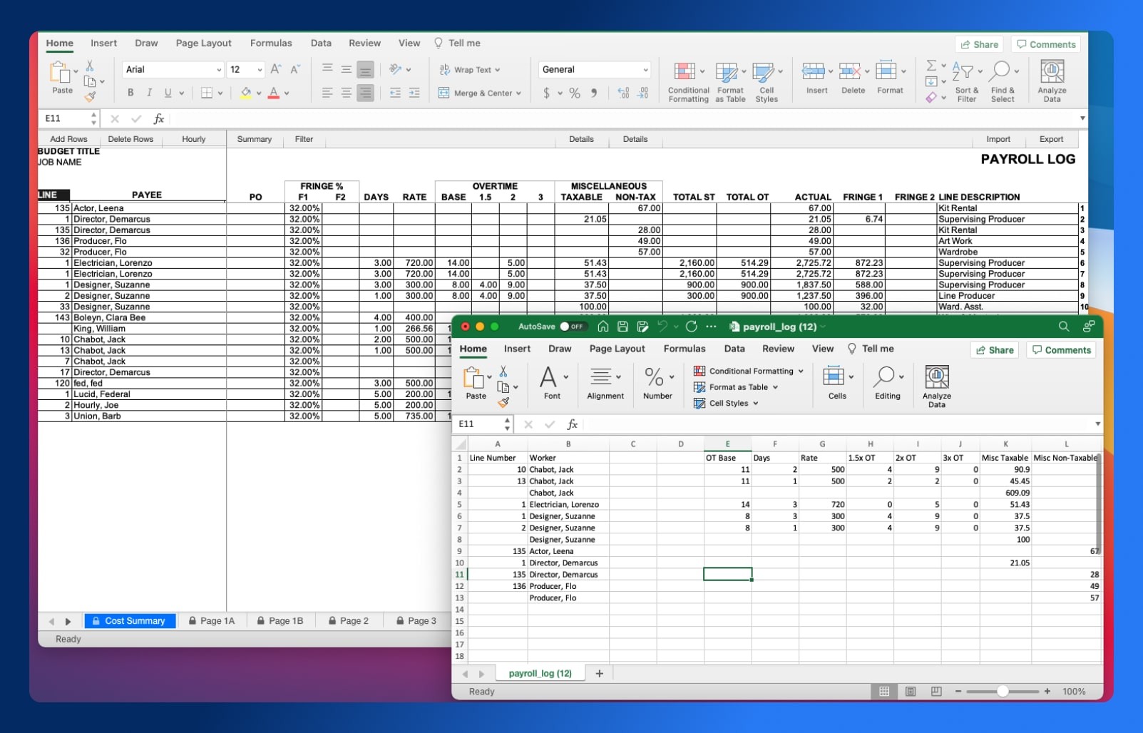 Actualize Budgets - Export to Hot Budget - Wrapbook