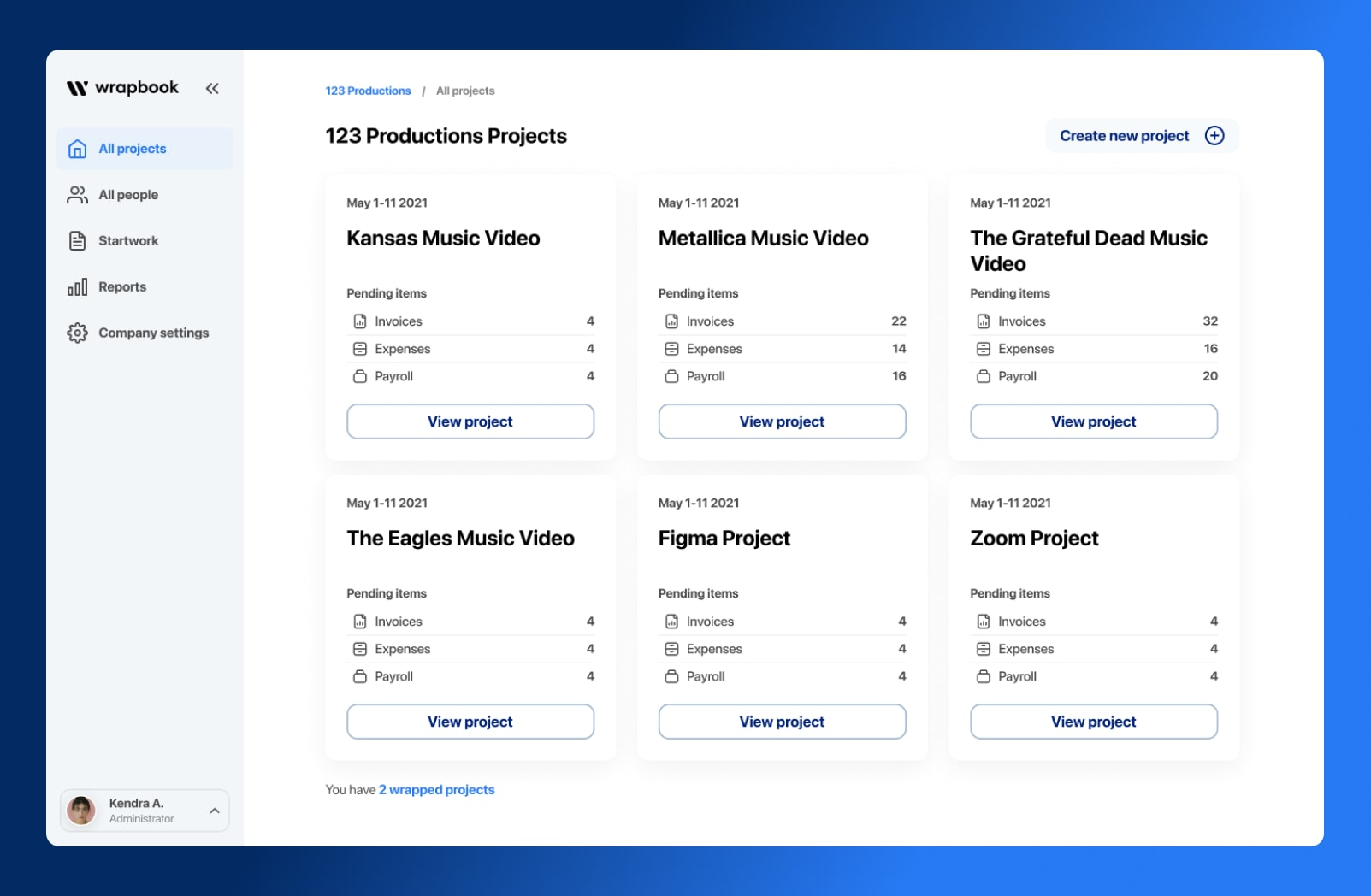Wrapbook's New Look - Specific Project View - Wrapbook