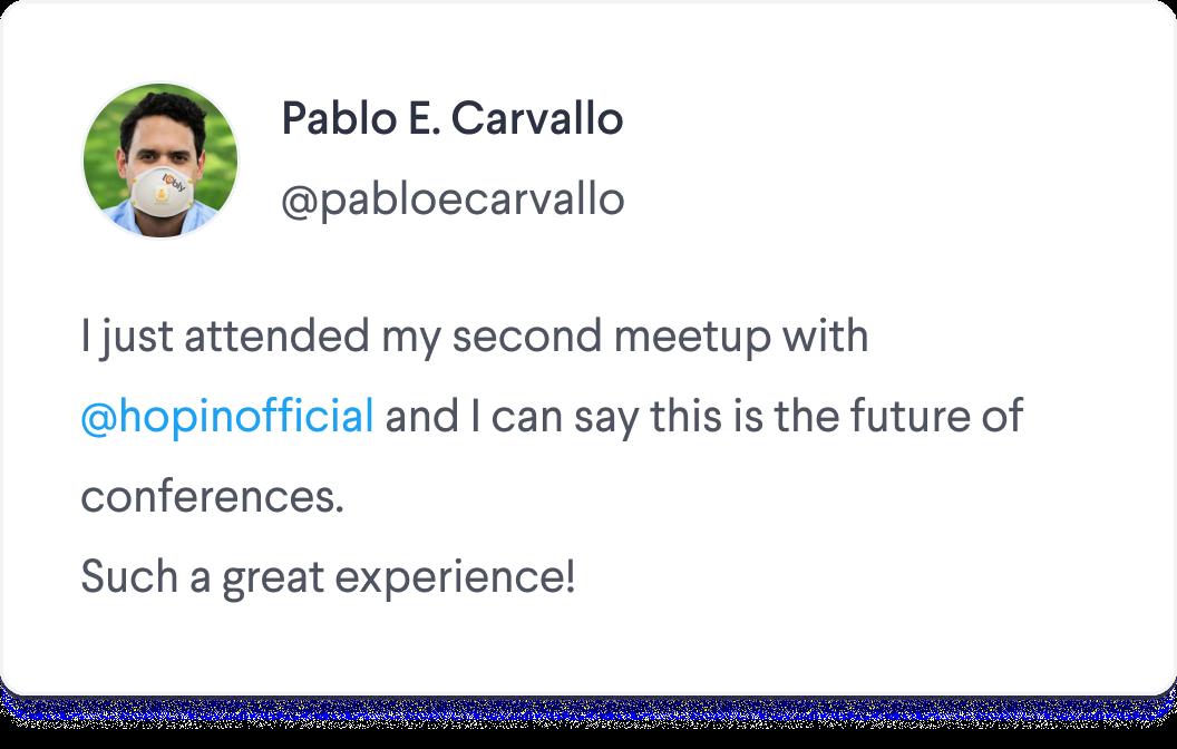Future of Conferences Tweet Screenshot