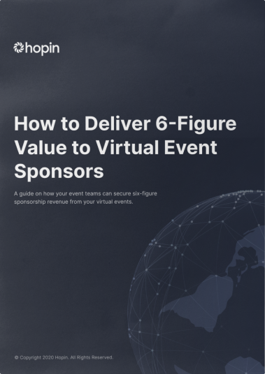 Hopin Whitepaper Book on How to Deliver Value to Event Sponsors