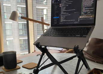 Laptop stand work from home setup