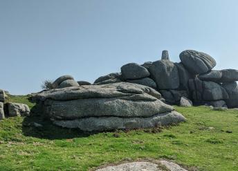large rocks in field