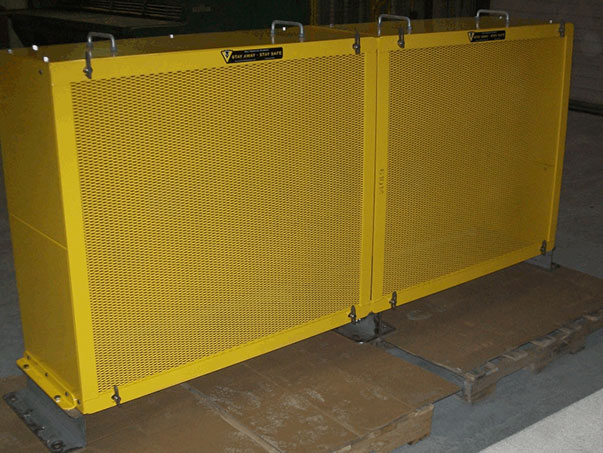 V-Belt Guard Yellow Mesh