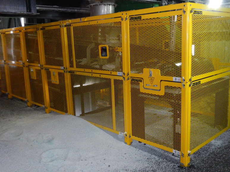 Modular Barrier Guards Underground