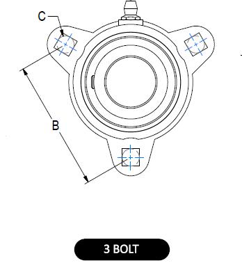 3-bolt Flange Bearing Guard diagram