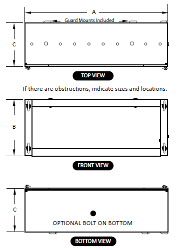Pillow Block Bearing Guard Diagrams