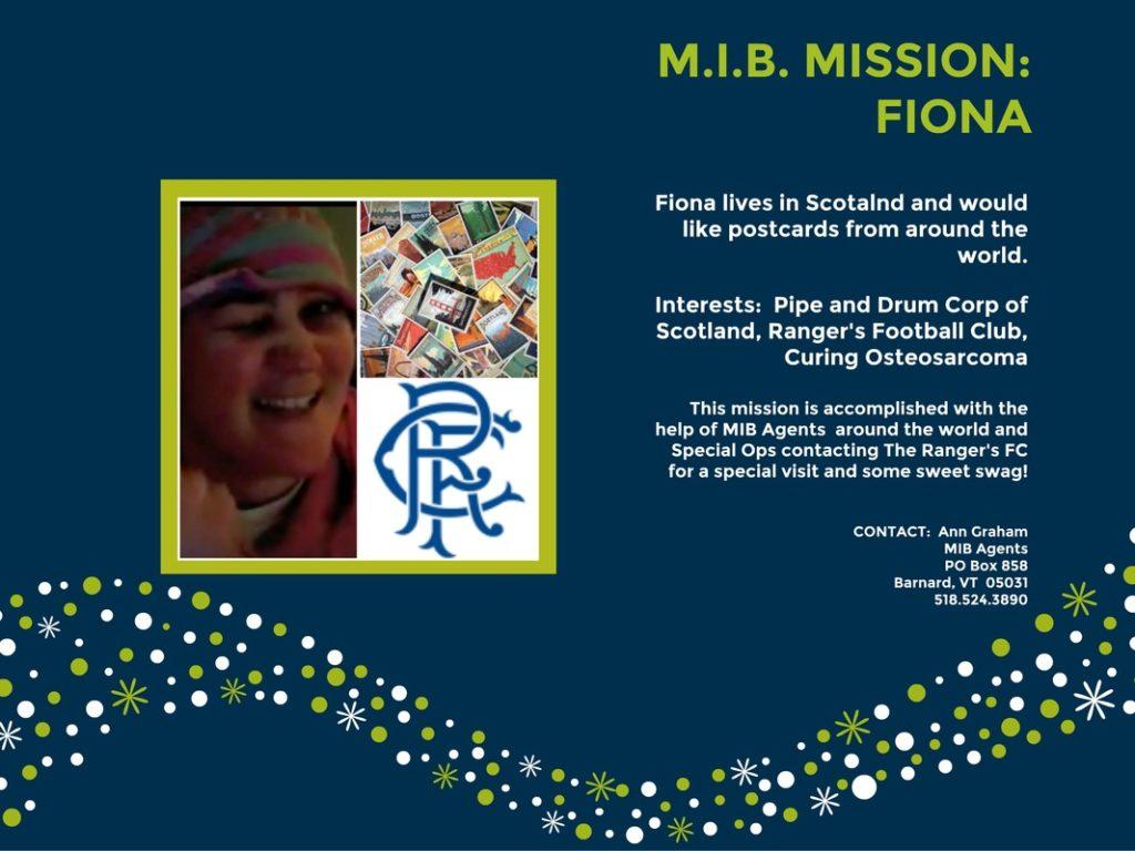 Fiona MIB Missions
