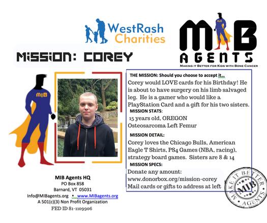 Corey MIB Missions