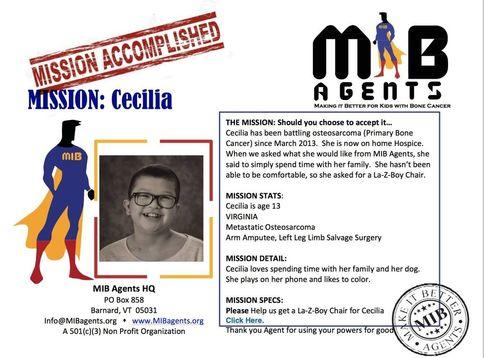 Cecilia MIB Mission