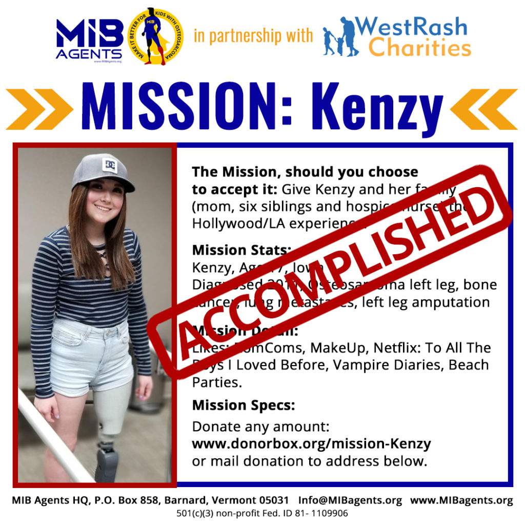 Kenzy MIB Mission