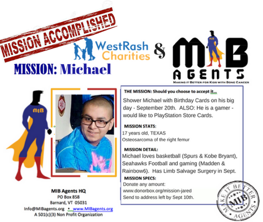 Michael MIB Mission