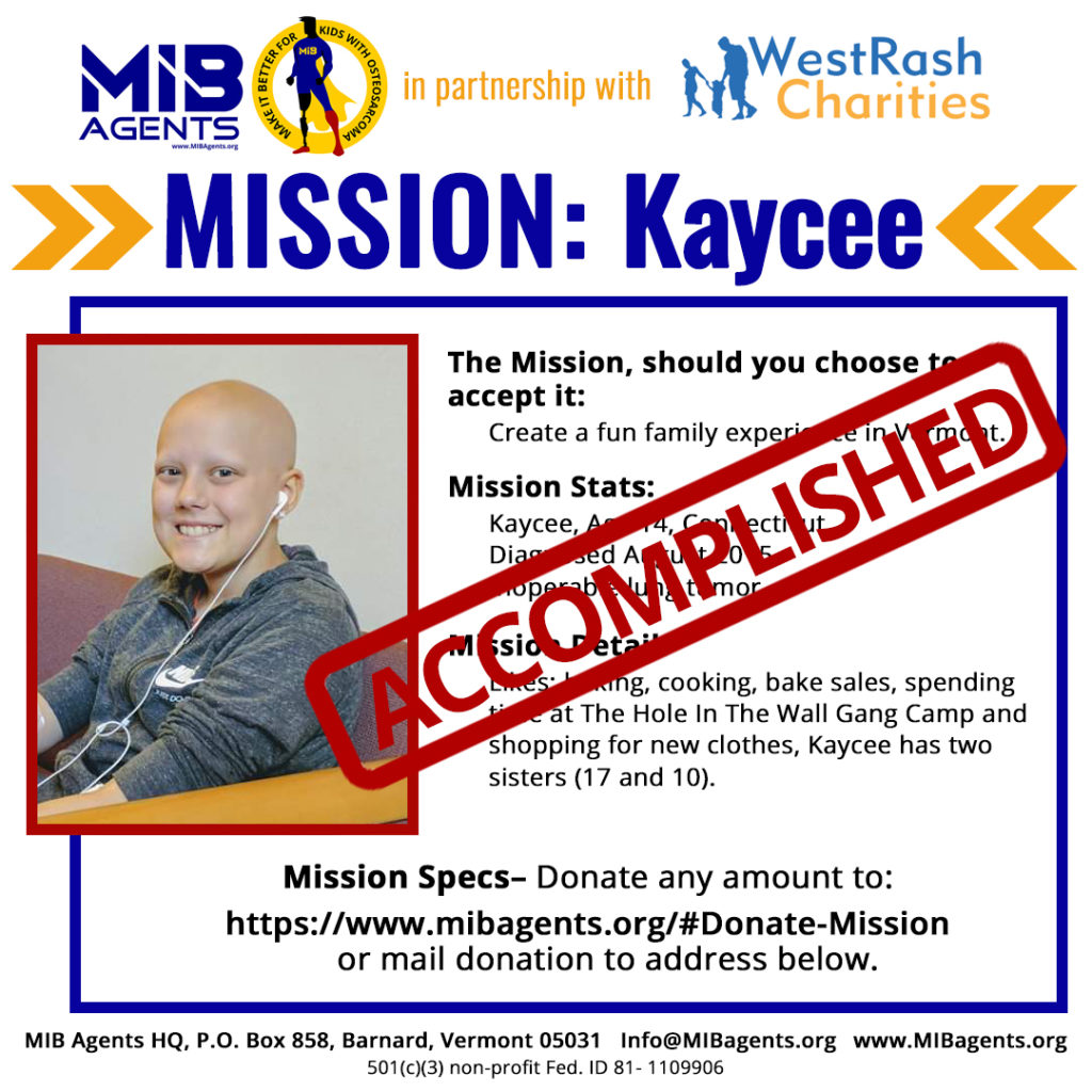 Kaycee MIB Mission