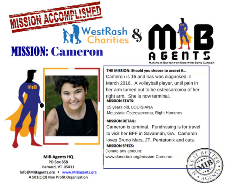 Cameron MIB Mission