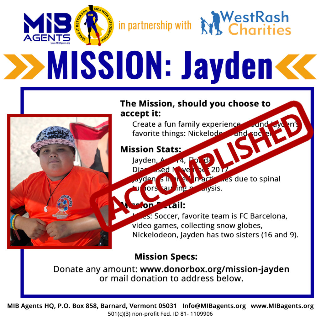 Jayden MIB Mission