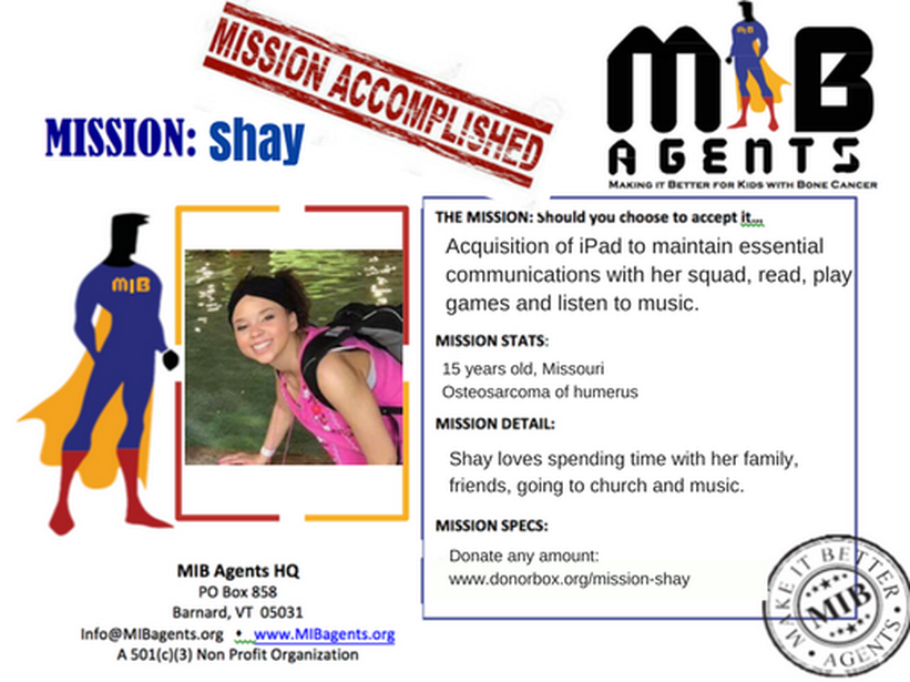 Shay MIB Mission