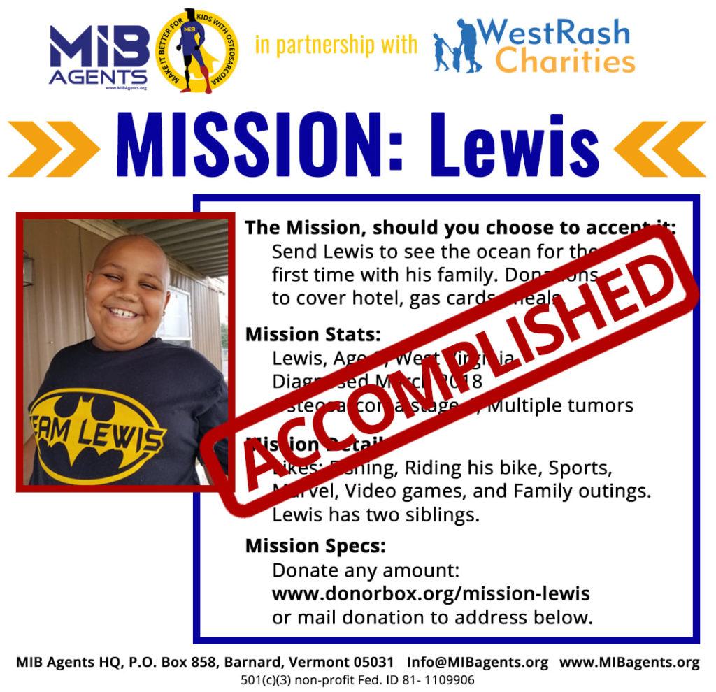 Lewis MIB Missions