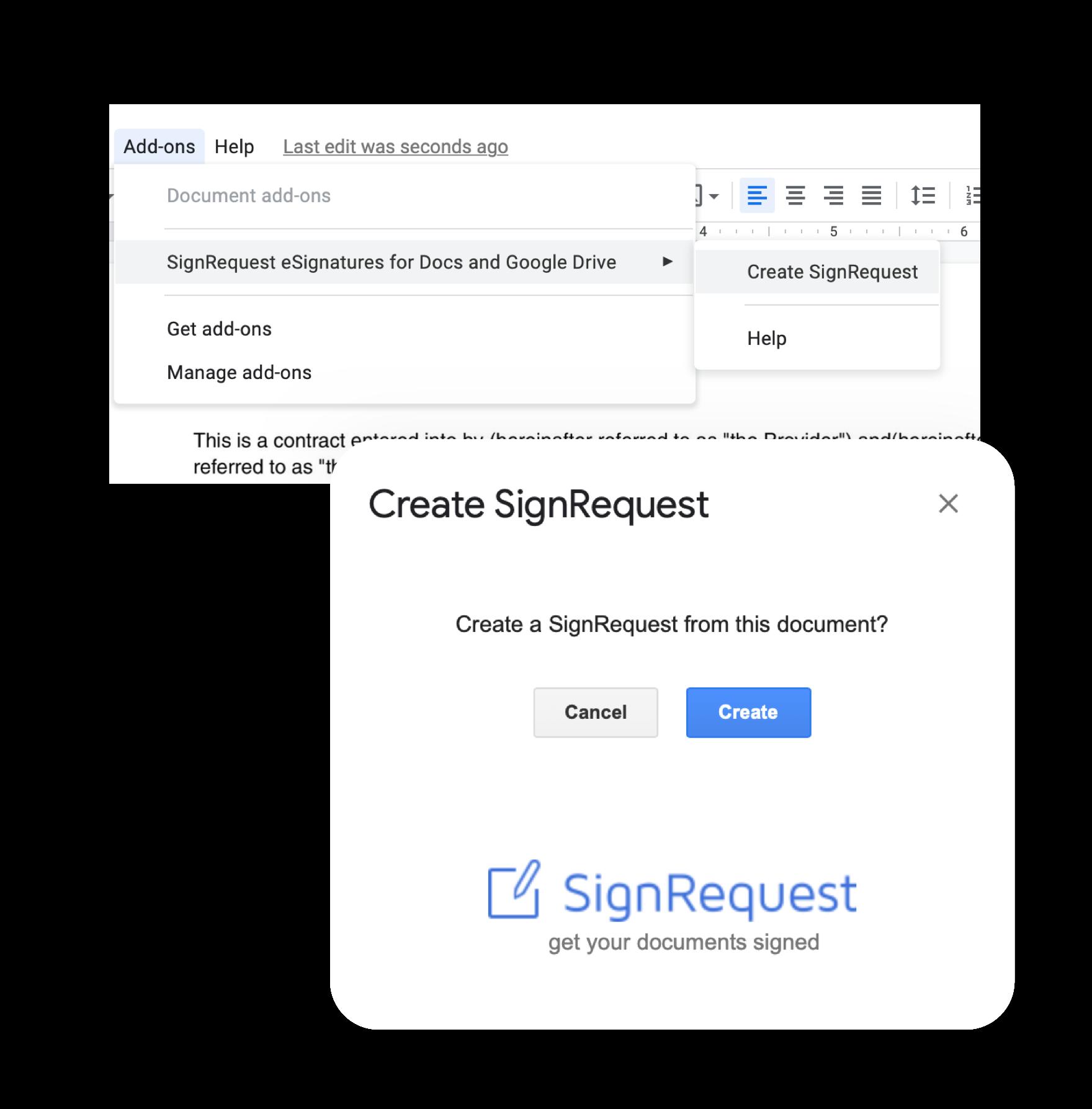 ondertekenen met google docs
