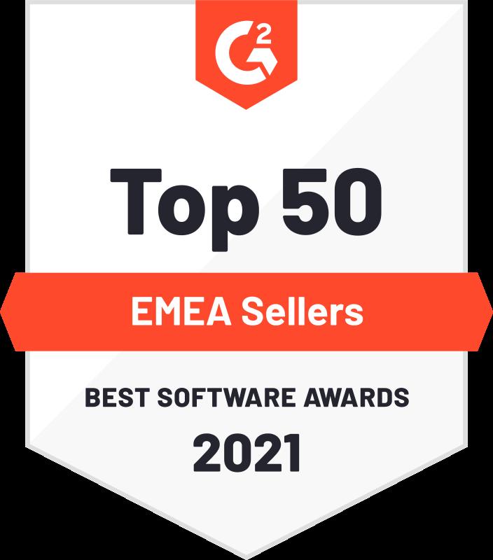 top 50 EMEA Software | G2 awards