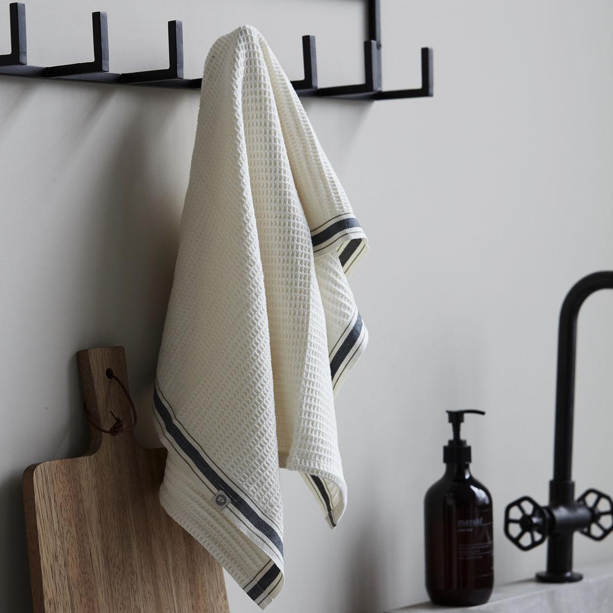 Grey Bihar Tea Towel, 2 Pack