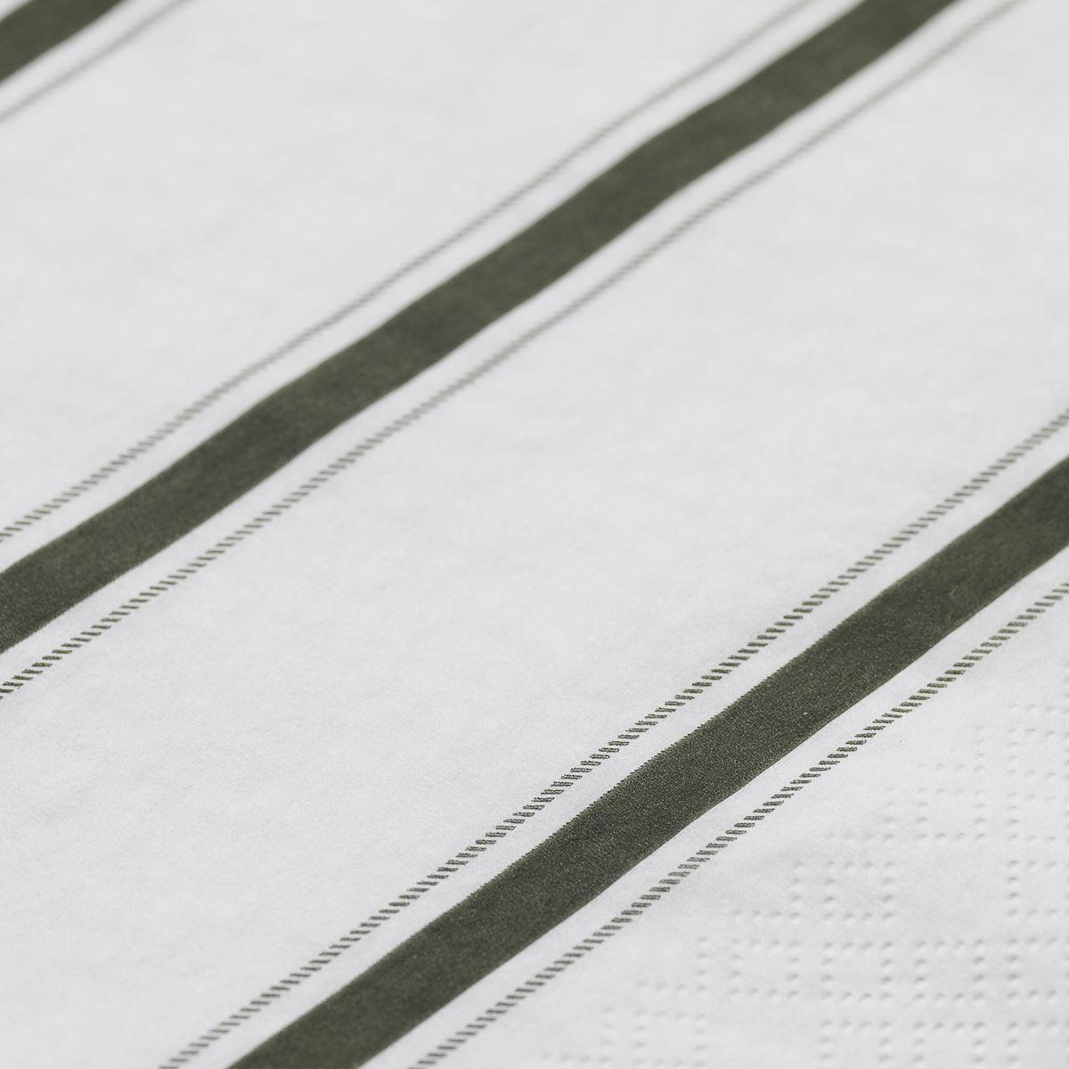 Dusty Green Stripe Napkins