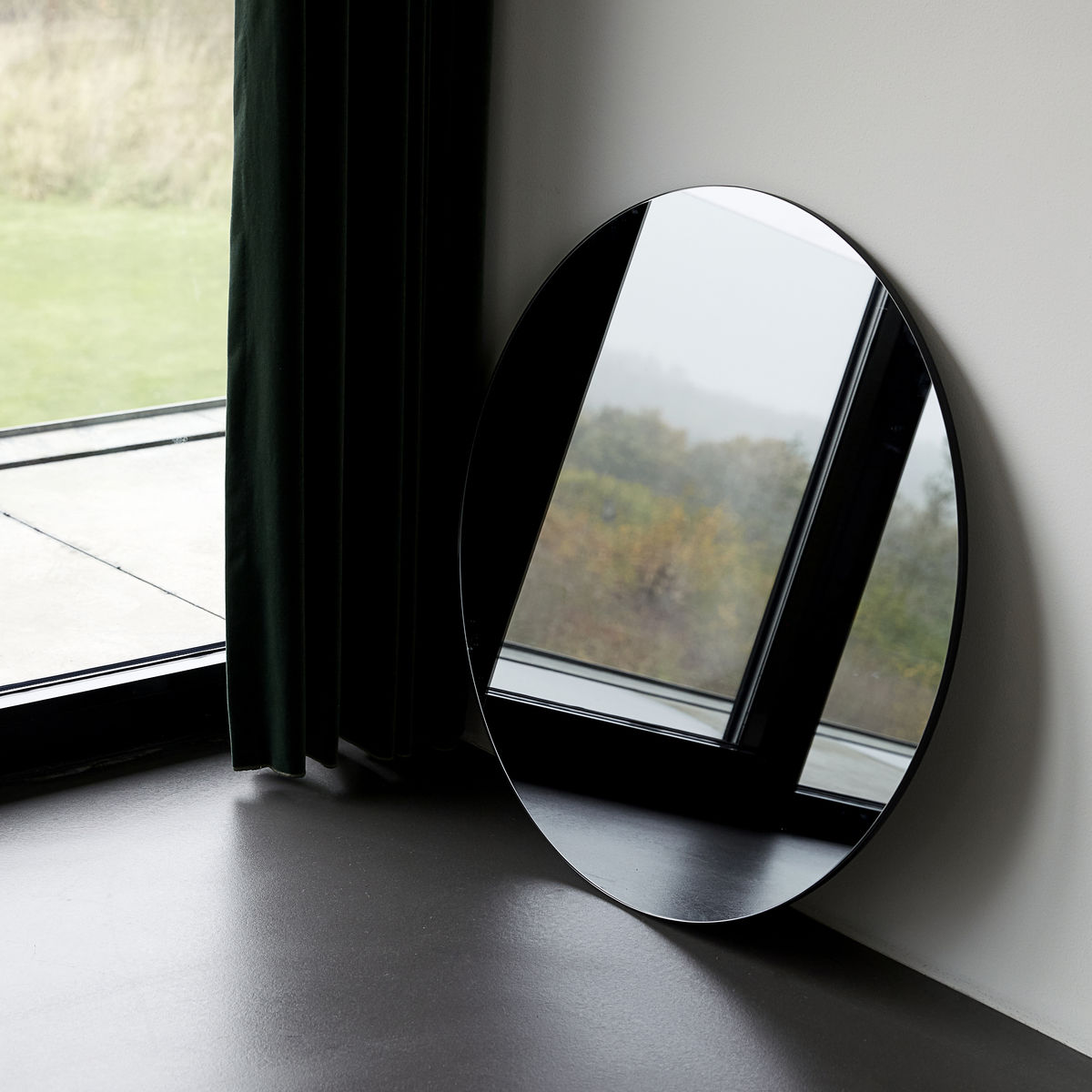 Grey Wall Mirror