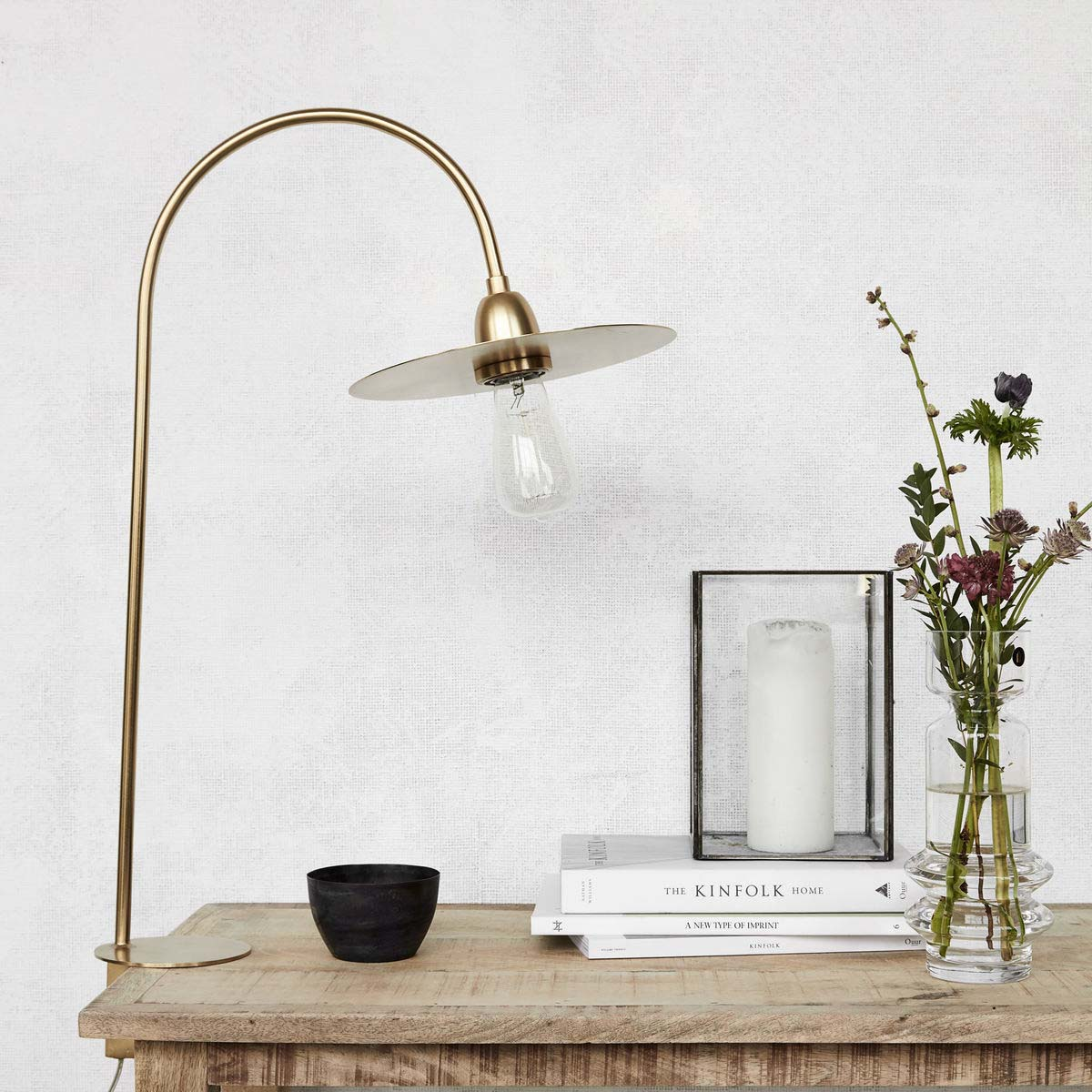 Glow Table Lamp, Brass