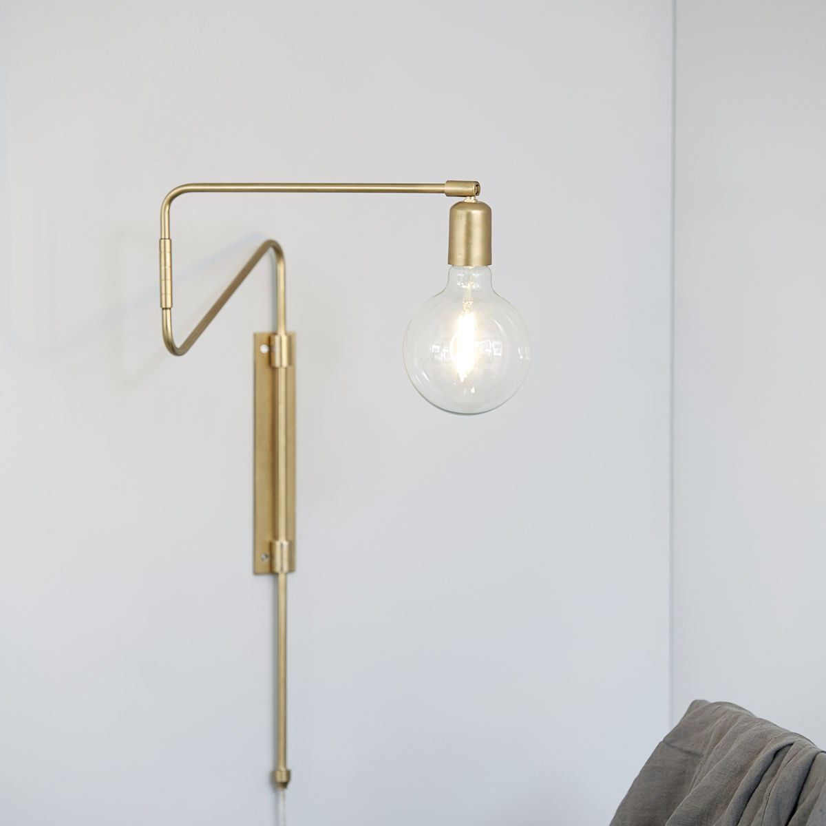 Swing Wall Lamp, Brass, Small