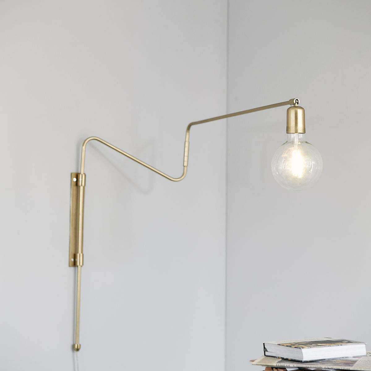 Swing Wall Lamp, Brass, Large