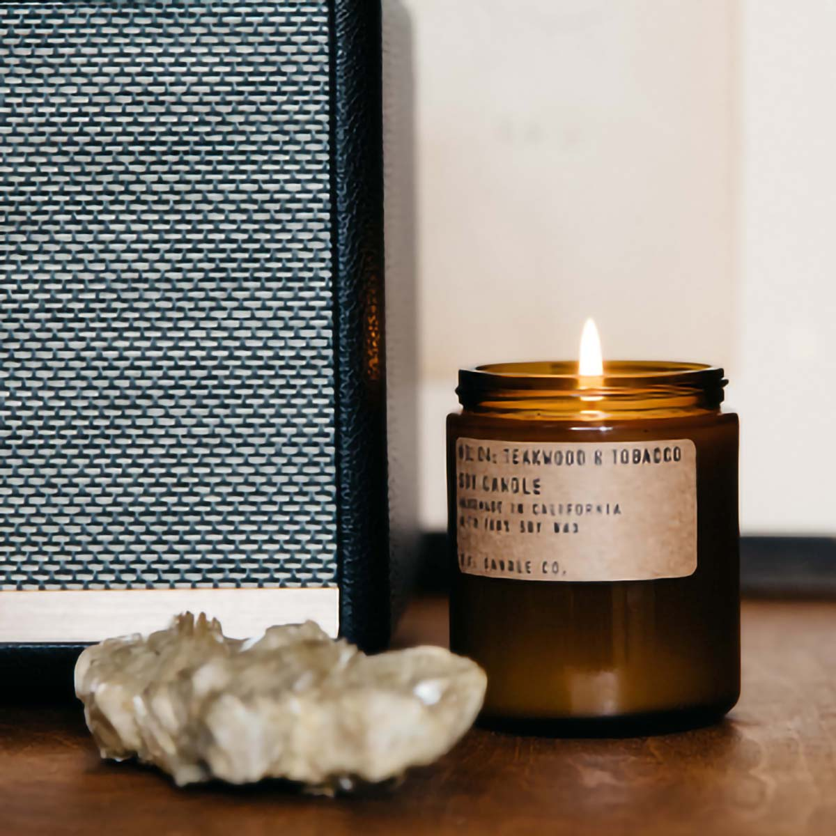 Teakwood & Tobacco Candle P.F Candle Co