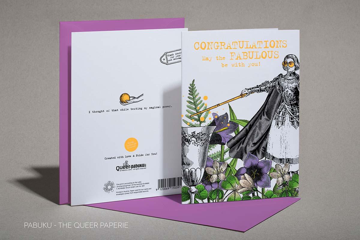 Congratualtions Card, Pabuku