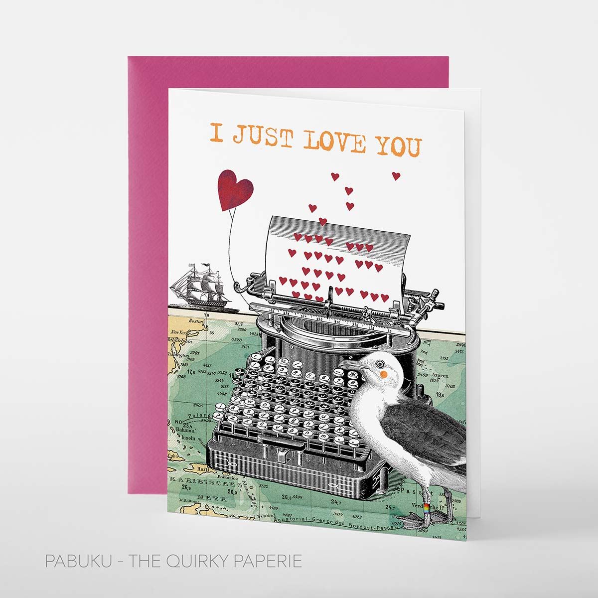 I Just Love You Card, Pabuku