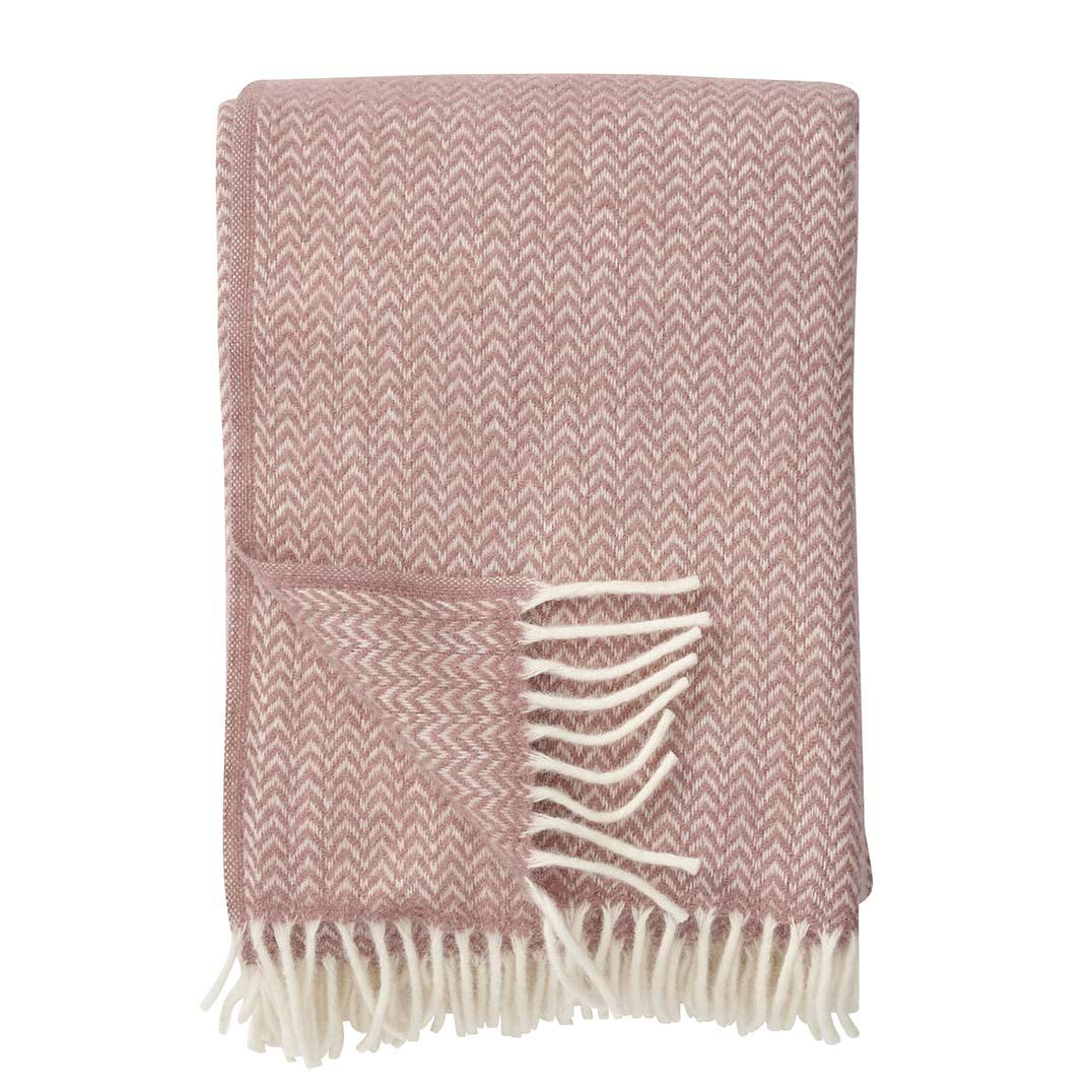 Nude/Pink Chevron Blanket, Klippan