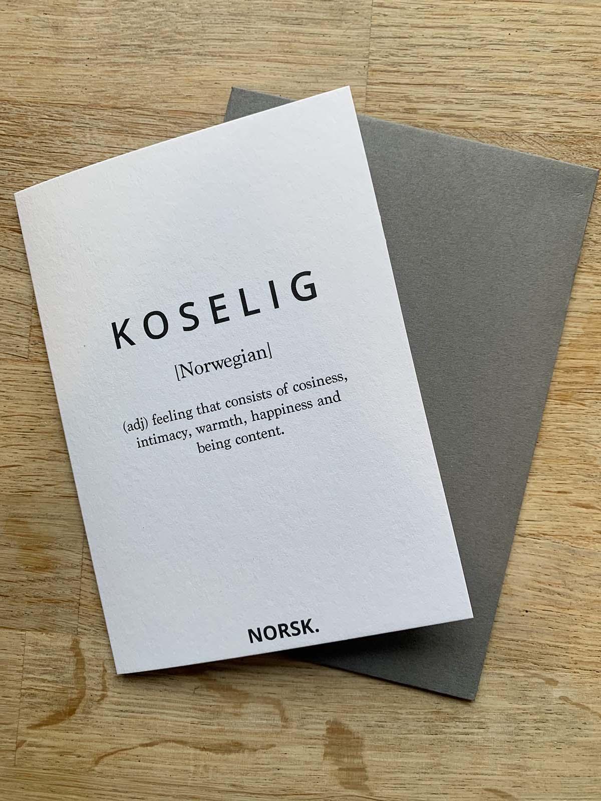 Koselig Card, NORSK.