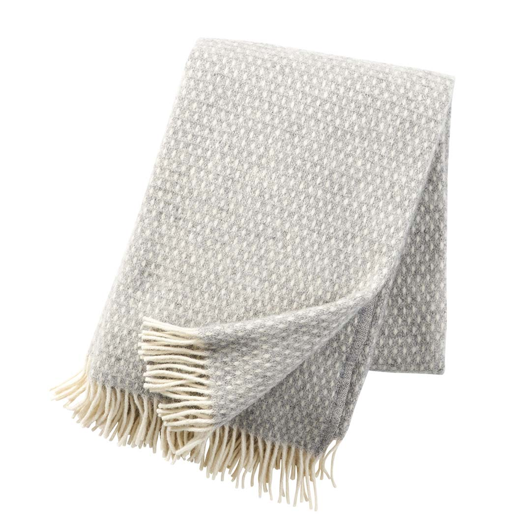Light Grey Knut Blanket, Klippan