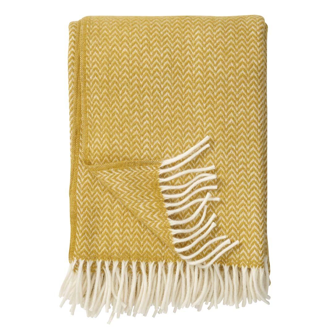 Yellow Chevron Blanket, Klippan
