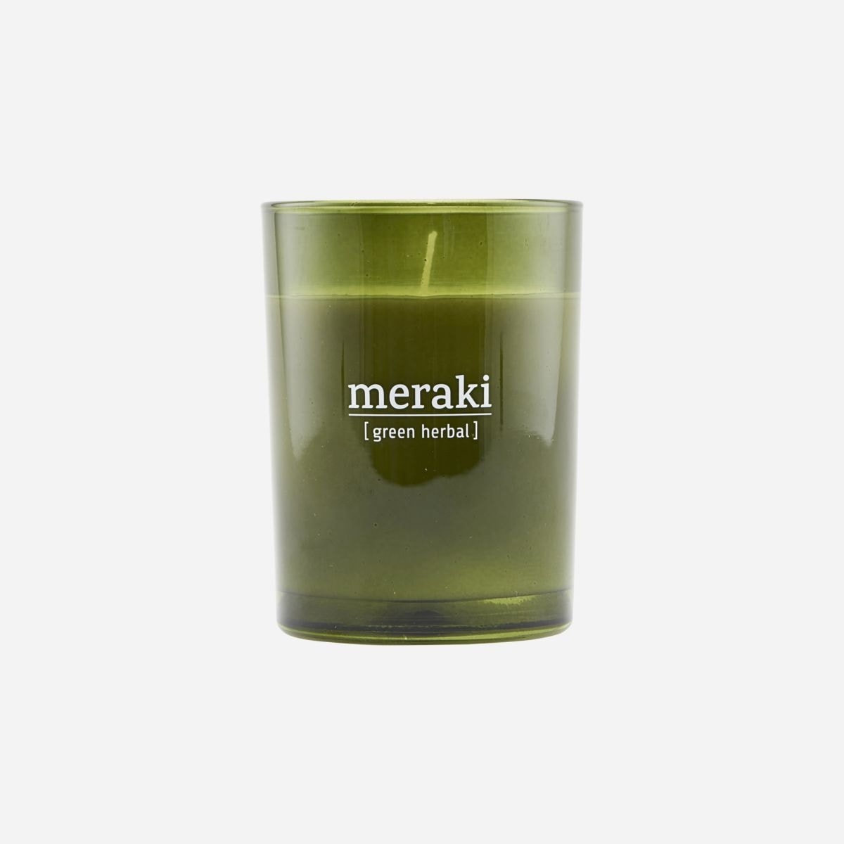 Green Herbal Scented Candle