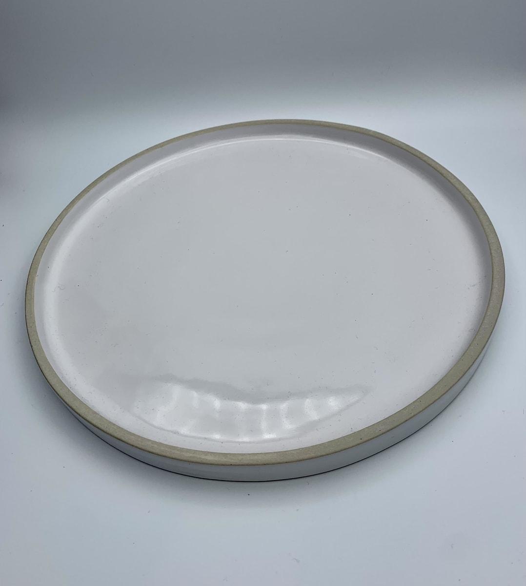 ceramic white dinner plate