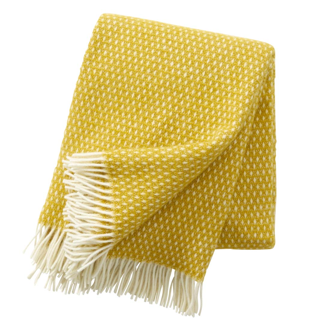 yellow wool blanket or throw
